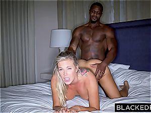 Addicted to fuckpole Samantha attempts a veiny black python