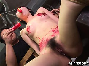 japanese tart likes to be sadism & masochism handled to a wax demonstrate