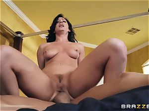 Jennifer milky railing on a massive fuck-stick