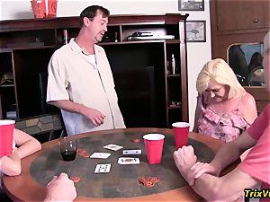 The neighborhood Poker soiree with Ms Paris Rose