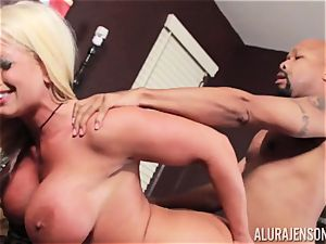 Alura Jenson slammered balls deep and receives super-hot super-fucking-hot creampie