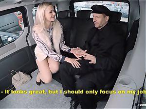 fucked IN TRAFFIC - torrid backseat fucky-fucky with Czech blonde