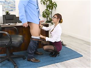 manager Jade Jantzen sucks and smashes a thick dicked worker