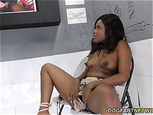 ebony Yara Skye's first practice At Gloryhole