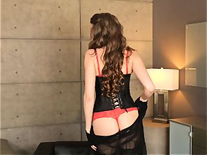 Elena Koshka toys her twat in beautiful underwear