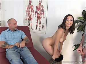 Jade Nile Has Her spouse fellate man sausage and observe Her