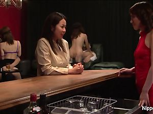 asian mummy at the hump club gets fingered