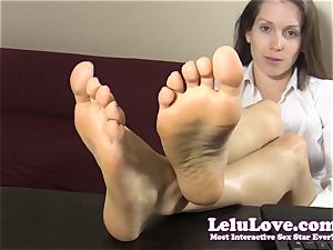 secretary teases and taunts you with her bare feet