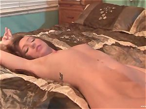 Maddy OReilly gets her throat crammed with big jizz