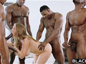 BLACKED Lena Paul first-ever interracial gang-bang
