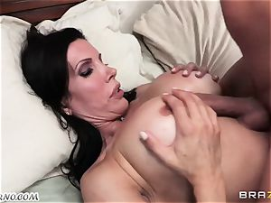 sonny witnesses as his daddy tears up his mature domina with large baps