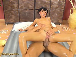 slippery massage orgy with Gina Devine