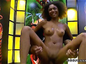 Latina luna corazon shows multiracial blowbang