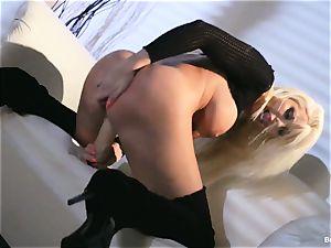 Britney Amber toys in her slit